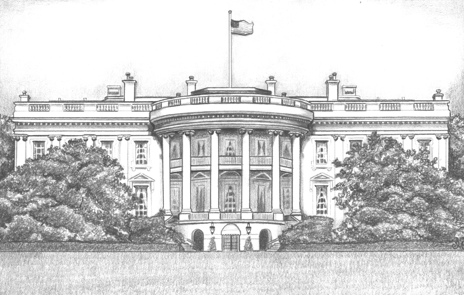 White House Drawing White House Drawing